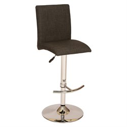 Armen Living La Jolla Adjustable Swivel Bar Stool in Charcoal