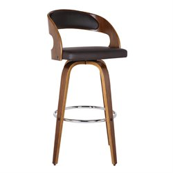 Armen Living Shelly Stool in Brown