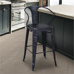 Berkley Stool in Industrial Grey Steel