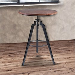 Armen Living Tribeca Pub Table in Industrial Grey