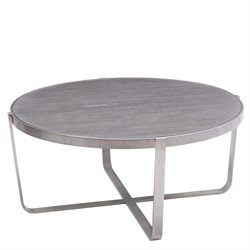 Armen Living Nova Round Coffee Table in Gray