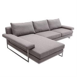 Armen Living Venice Left Facing Sectional in Gray