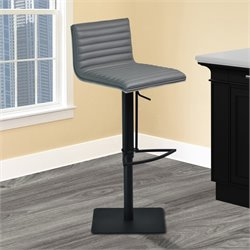 Armen Living Cafe Adjustable Swivel Bar Stool in Gray