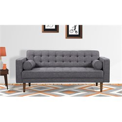 Armen Living Element Loveseat in Dark Gray