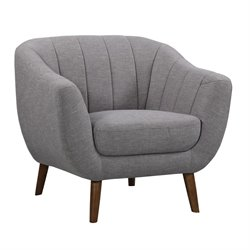 Armen Living Javeline Chair in Light Gray