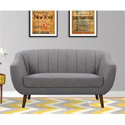 Armen Living Javeline Loveseat in Light Gray