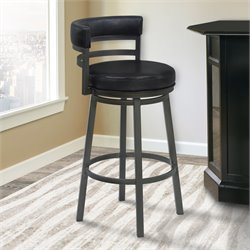 Madrid Stool in Ford Black and Mineral