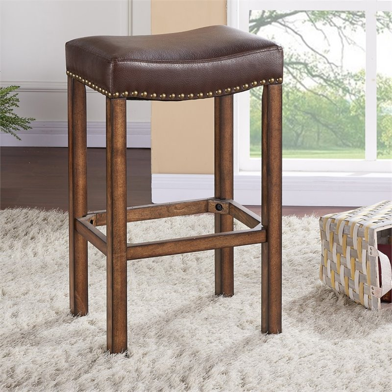 Armen Living Tudor 26 Quot Counter Height Backless Bar Stool