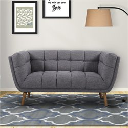 Armen Living Phantom Loveseat in Dark Gray