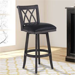 Sonoma Stool in Wire Brushed Black and Black