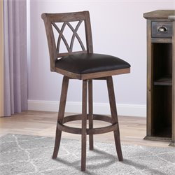 Sonoma Stool in Wire Brushed Brown and Brown