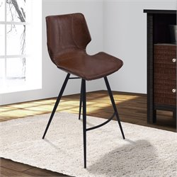 Zurich Stool in Vintage Coffee and Black
