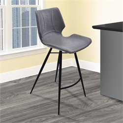 Zurich Stool in Vintage Gray and Black