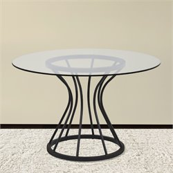 Armen Living Zurich Round Dining Table in Black