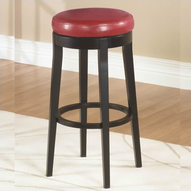 Armen Living 26 Quot Round Backless Swivel Counter Stool In
