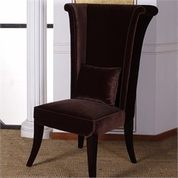 Armen Living Mad Hatter Dining Chair in Brown