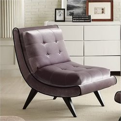 Armen Living 5Th Swayback Tufted Fabric Lounge swayback Chair in Gray