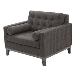 Armen Living Chenille Centennial Chair in Charcoal