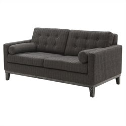 Armen Living Chenille Centennial Loveseat in Charcoal