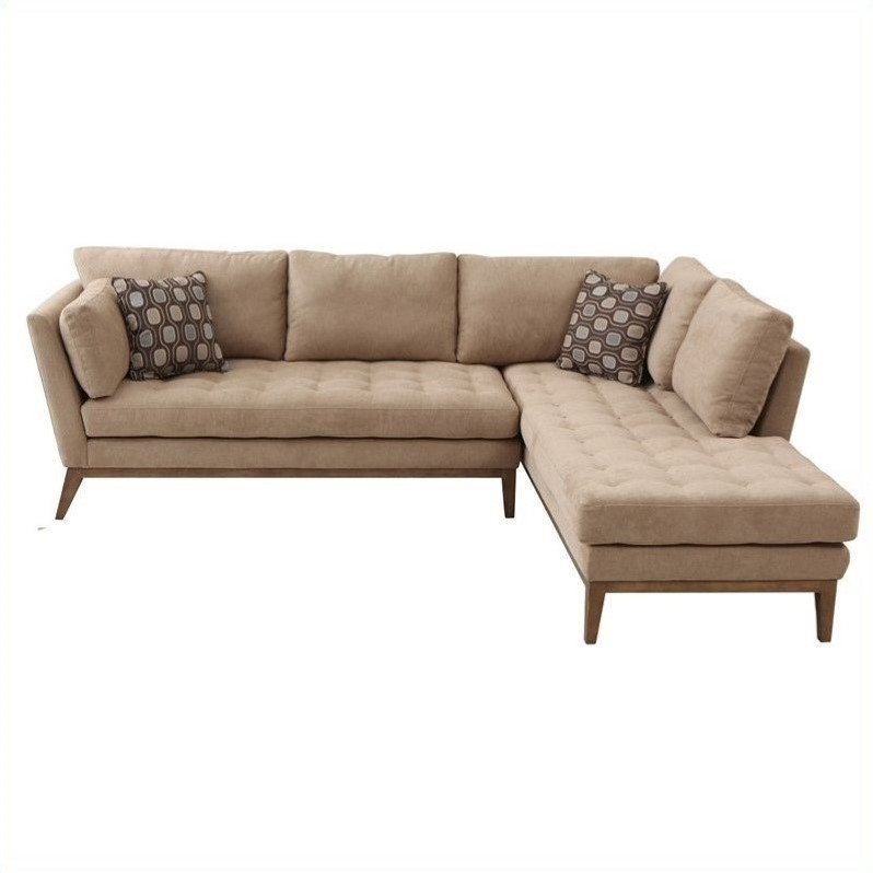 Armen living polyester sahara sectional in cream lcsachcr for Albany sahara sectional sofa chaise