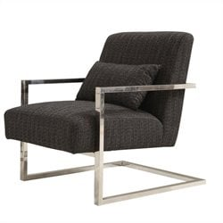 Armen Living Skyline Accent Chair in Charcoal