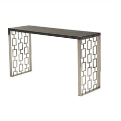 Armen Living Skyline Console in Charcoal