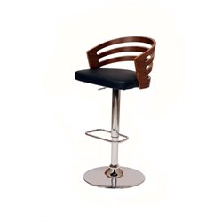 Armen Living Adele Swivel Barstool in Black