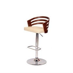 Armen Living Adele Swivel Barstool in Cream