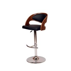 Armen Living Malibu Swivel Barstool in Black