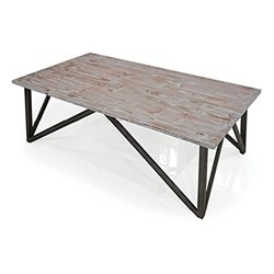 Armen Living Regis Coffee Table in Pine