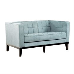Armen Living Roxbury Loveseat in Spa Blue