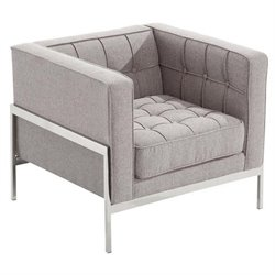 Armen Living Andre Chair in Gray