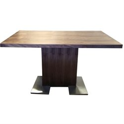 Armen Living Zenith Wood Rectangular Dining Table in Brown