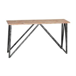 Armen Living Regis Wood Console Table in Brown