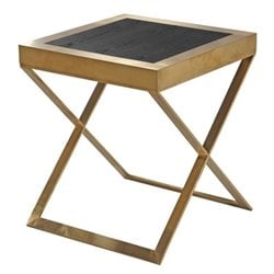 Armen Living Jasper End Table in Gold