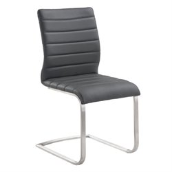 Fusion Contemporary Side Chair in Gray