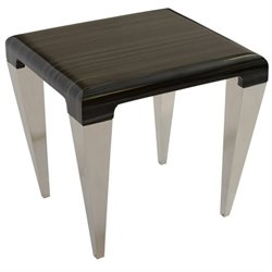 Armen Living Chow End Table in Black