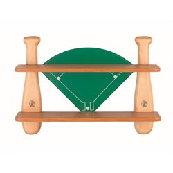 Lite Source Baseball Field 2 Shelf Bookcase in Natural