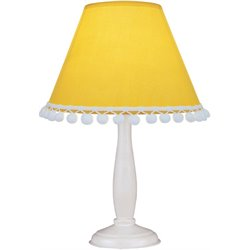 Lite Source Pompom Table Lamp in White