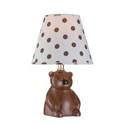 Lite Source Bear Table Lamp in Brown