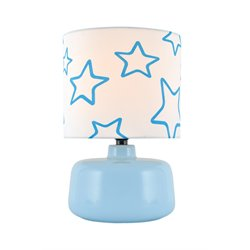 Lite Source Twinkle Table Lamp in Light Blue