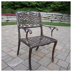 Oakland Living Mississippi Cast Aluminium Arm Chair