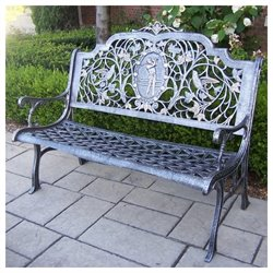 Oakland Living Golfer Cast Aluminum Bench