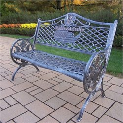 Oakland Living GOD Bless America Cast Aluminum Bench