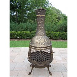 Oakland Living Elite Chimenea in Antique Bronze