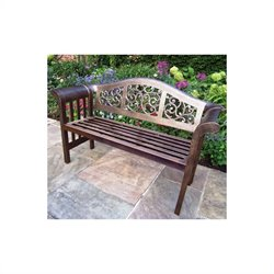 Oakland Living Mississippi Cast Aluminium Royal Patio Bench in Antique Bronze