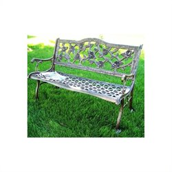 Oakland Living English Rose Cast Aluminum Bench