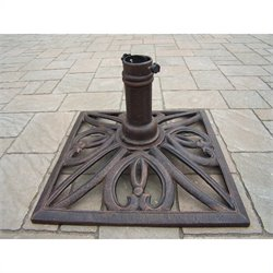Oakland Living Square Umbrella Stand in Antique Bronze