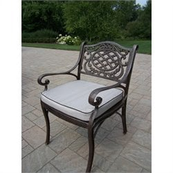 Oakland Living Mississippi Arm Chair in Antique Bronze