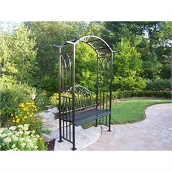 Oakland Living Royal Arbor with Bench in Black